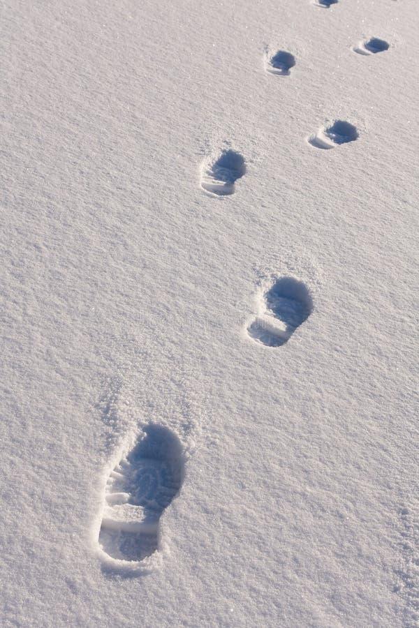 英尺人打印雪 免版税图库摄影