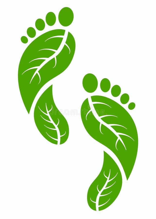 英尺绿色打印 向量例证