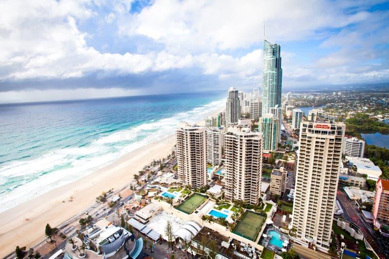 英属黄金海岸昆士兰澳大利亚- Q1早晨场面 免版税库存照片