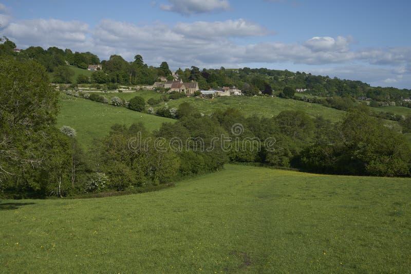 英格兰科茨沃尔德乡村 免版税库存照片