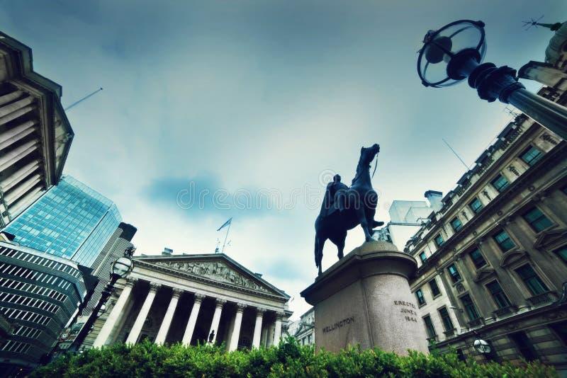 英格兰银行,皇家交换。伦敦,英国 库存照片