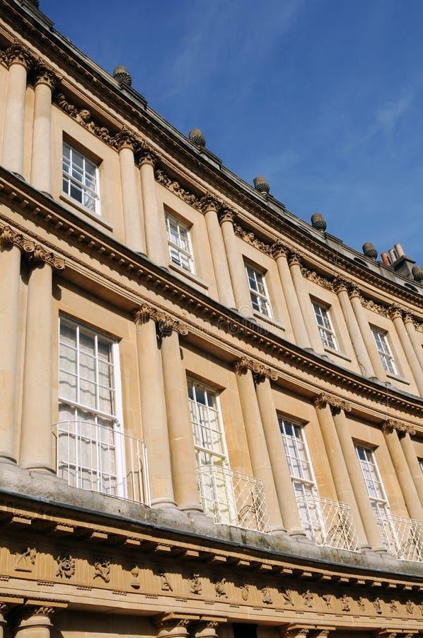 英王乔治一世至三世时期时代城内住宅 免版税库存图片
