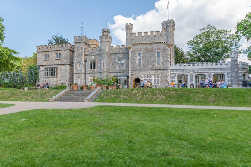 英王乔治一世至三世时期期间肯特城堡 库存图片