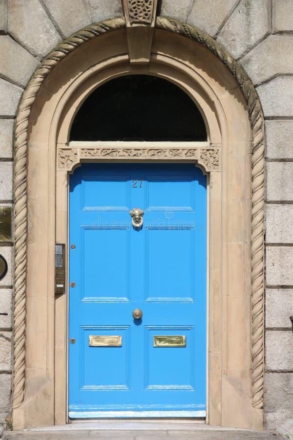 英王乔治一世至三世时期蓝色门 库存图片
