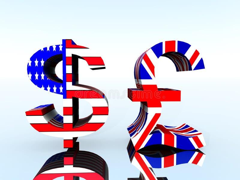 英磅和美元21 皇族释放例证