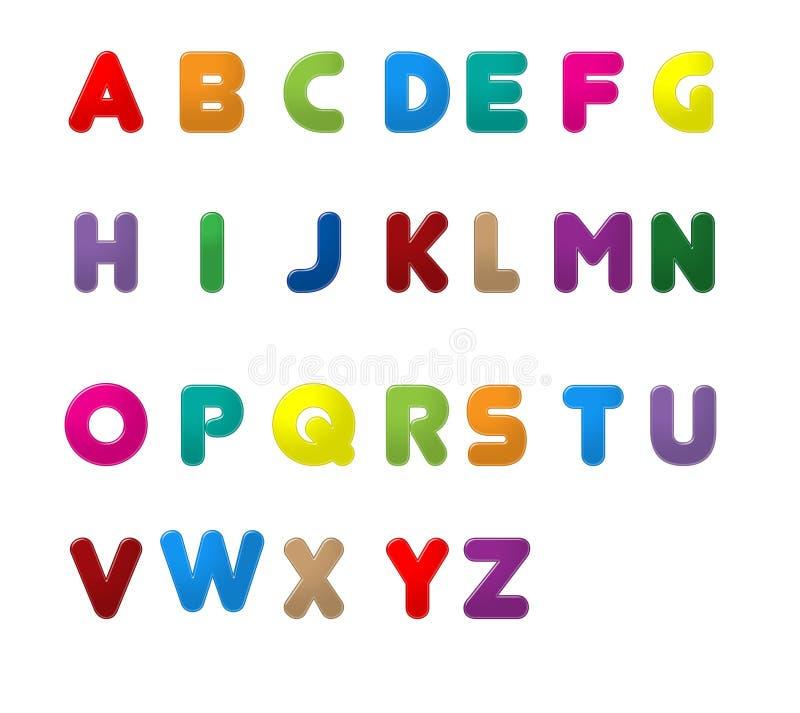 英语在A到Z上写字 向量例证