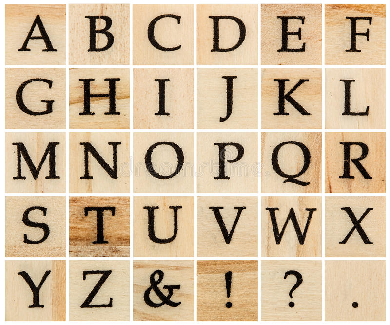 英语字母表大写,被隔绝的木活版拼贴画.图片