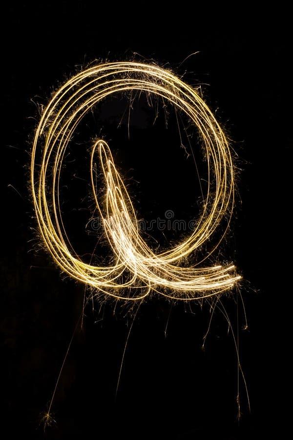 英语字母表Q 库存图片