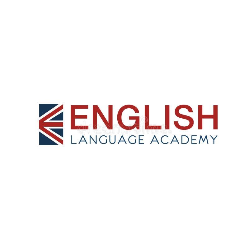 英语语言学院标志 库存例证