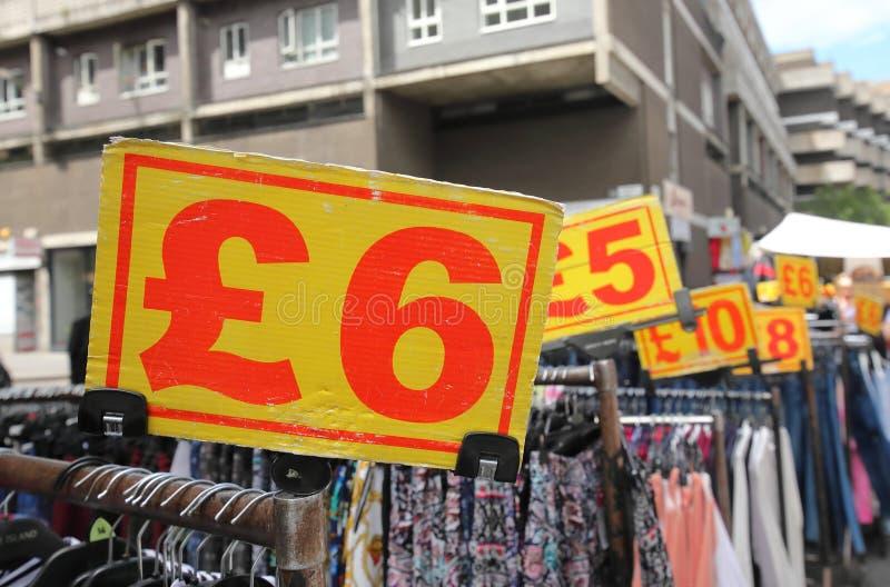 英镑价格 免版税库存照片