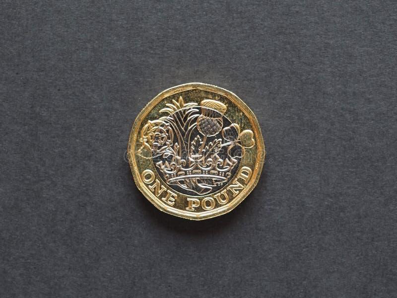 1 1英镑硬币,英国 免版税库存图片