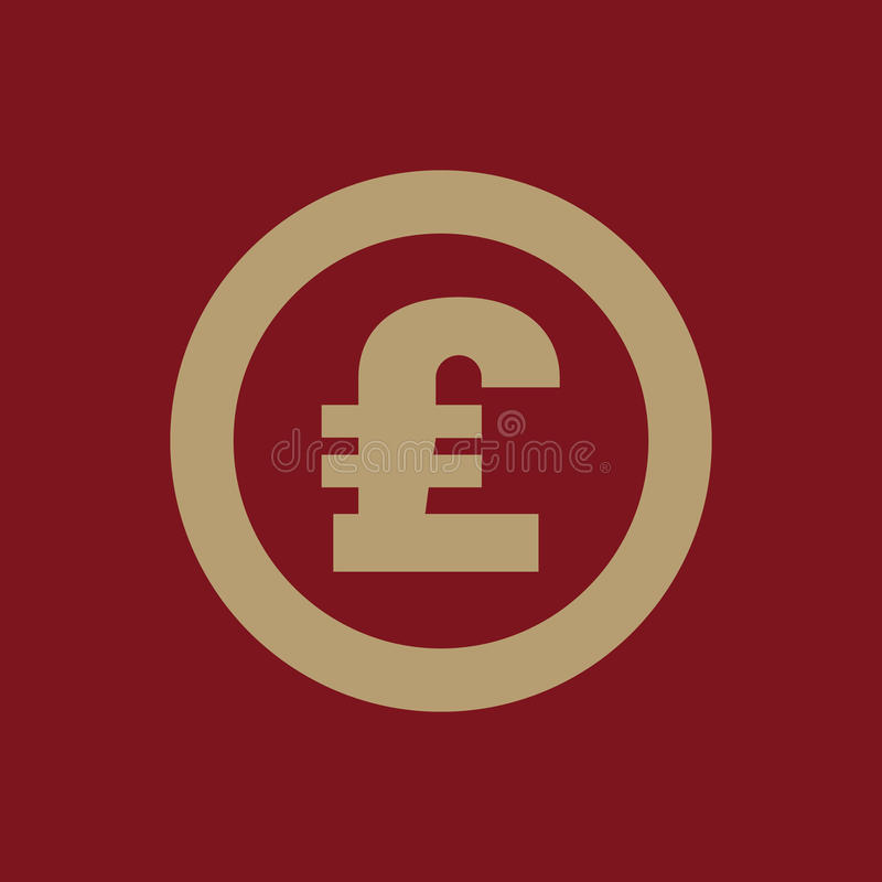 英镑象 现金和金钱,财富,付款标志 平面 皇族释放例证