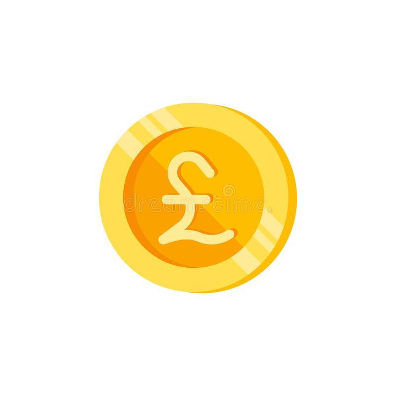 英镑,硬币,金钱颜色象 颜色财务标志的元素 优质质量图形设计象 签署符号 库存例证