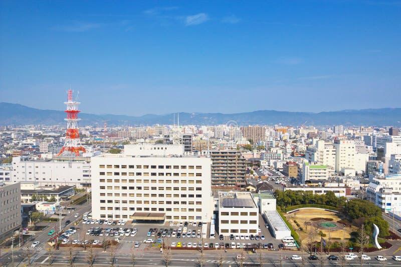 英雄传奇城市,日本看法英雄传奇的 免版税库存图片