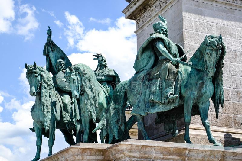 英雄正方形-布达佩斯,匈牙利 免版税图库摄影
