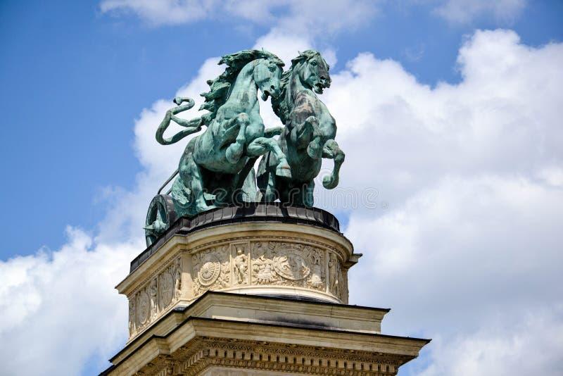 英雄正方形-布达佩斯,匈牙利 免版税库存图片