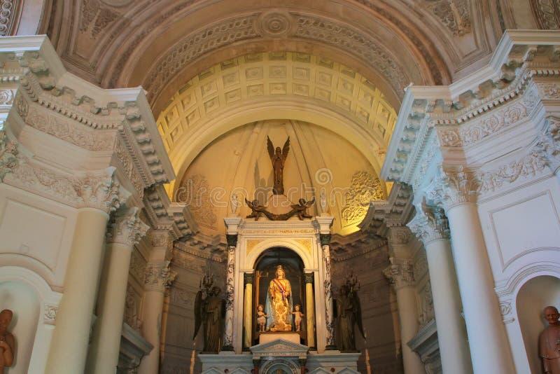 英雄的全国万神殿内部在亚松森, Paragua 图库摄影