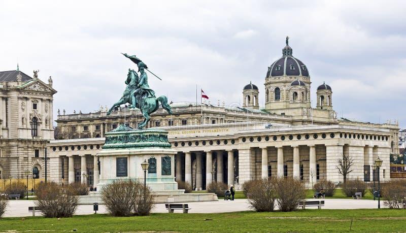英雄的方形在维也纳 免版税库存照片