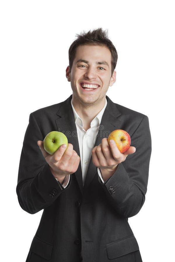 苹果专业人员二年轻人 免版税库存照片