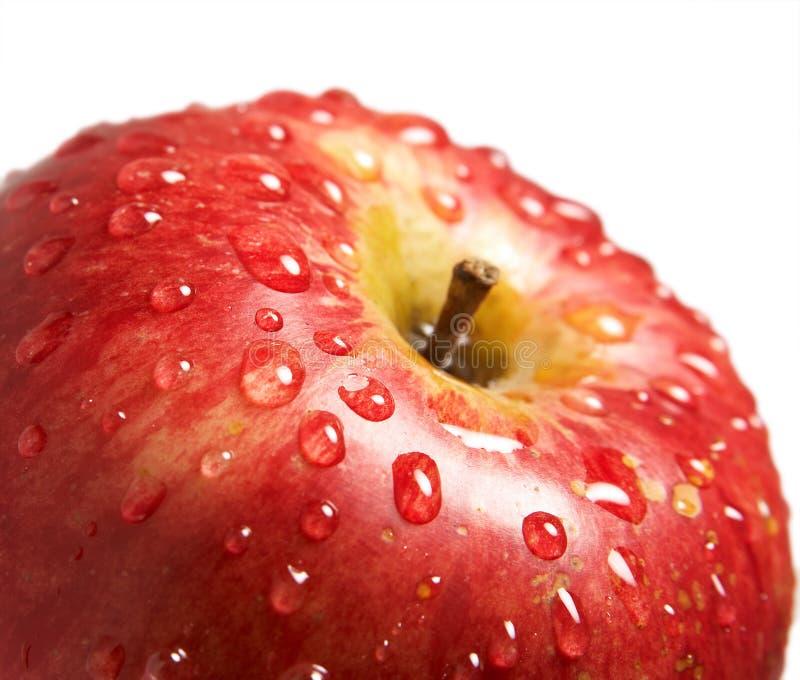 苹果丢弃水 免版税库存照片