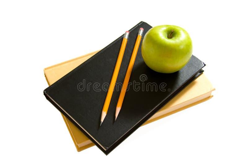 苹果书学校 库存照片
