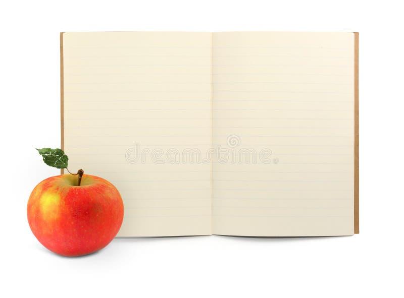 苹果书执行 库存图片