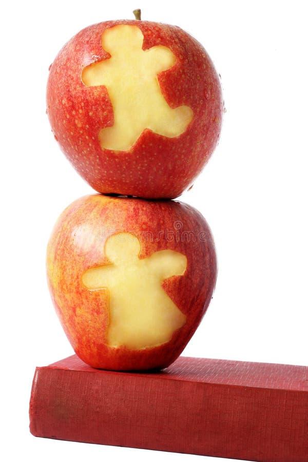 苹果书 免版税图库摄影