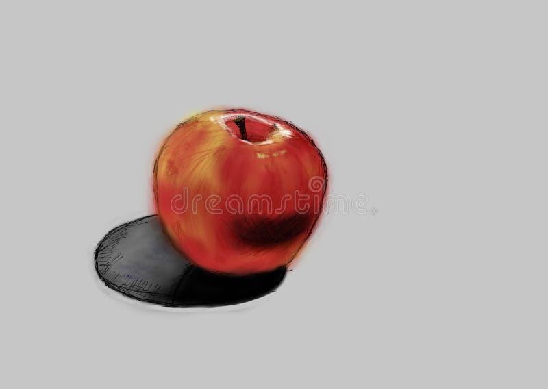 苹果例证查出的红色向量白色 向量例证
