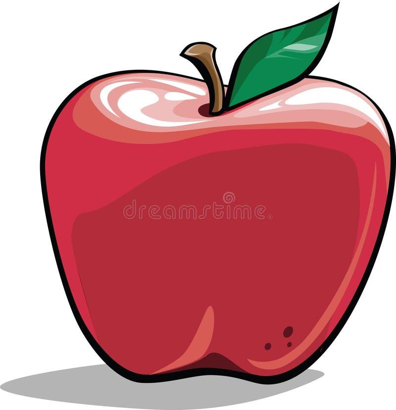 苹果动画片 免版税库存图片