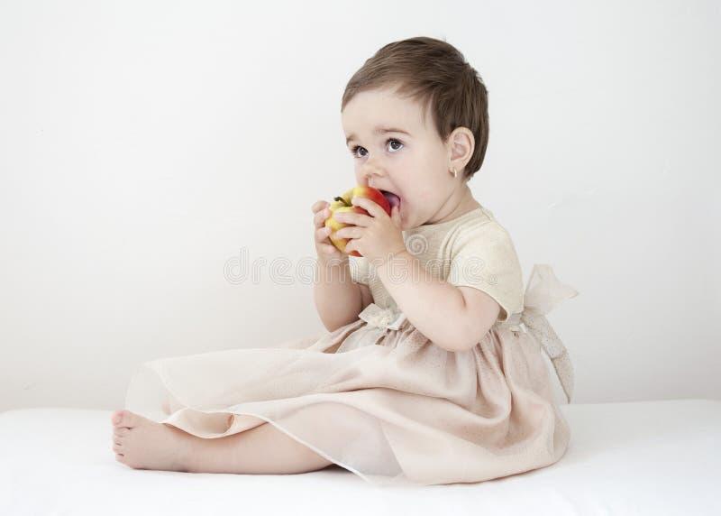 苹果吃 免版税库存图片