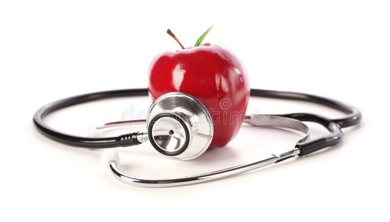 苹果听诊器 免版税图库摄影
