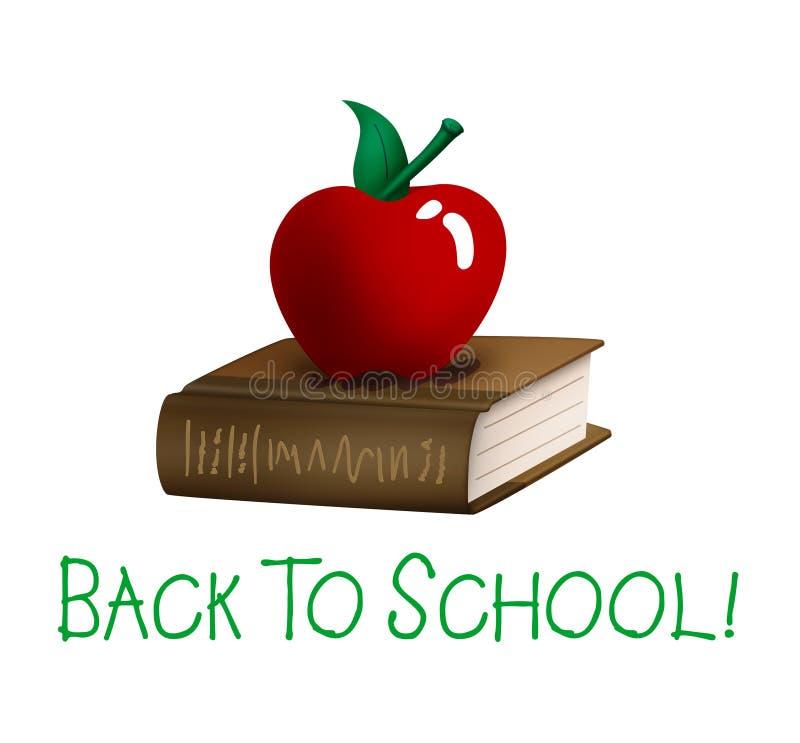 苹果回到书学校 皇族释放例证
