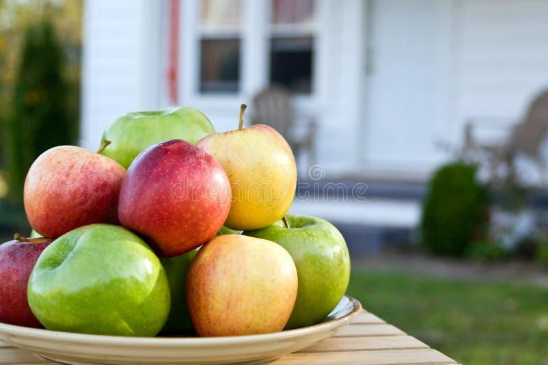 苹果回家 库存图片