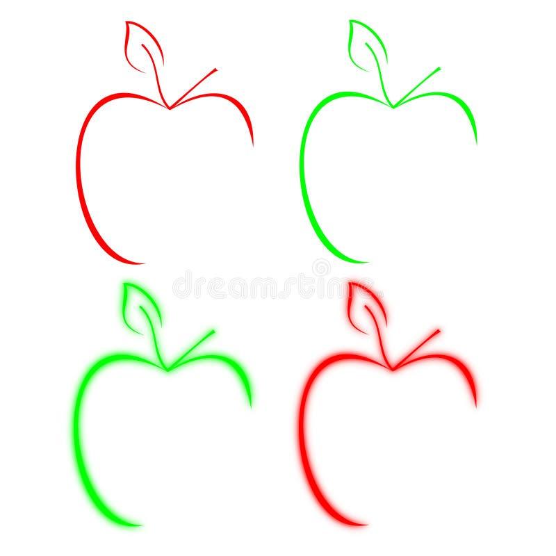 苹果图标 库存例证