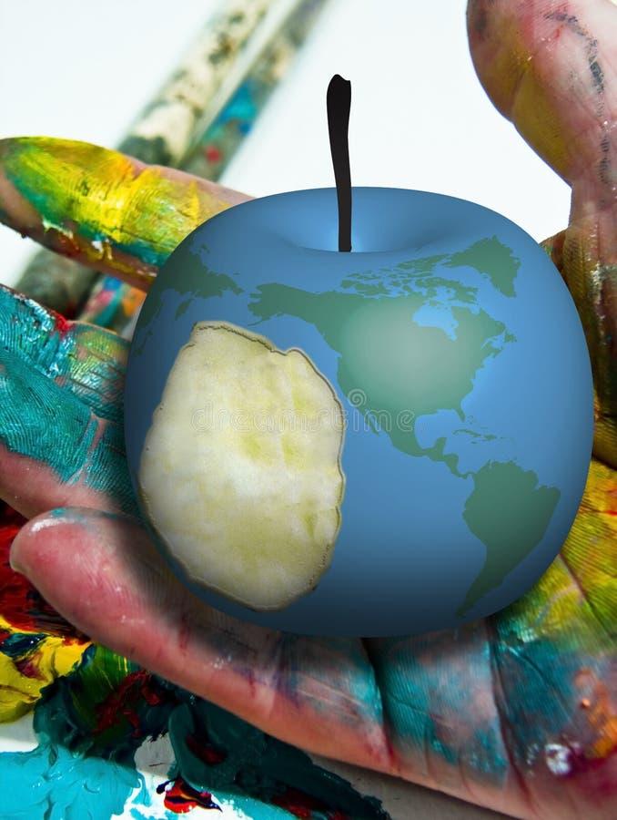 苹果地球 向量例证