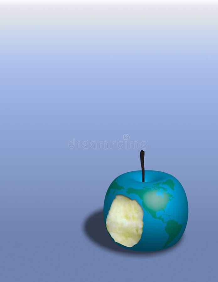 苹果地球 库存例证