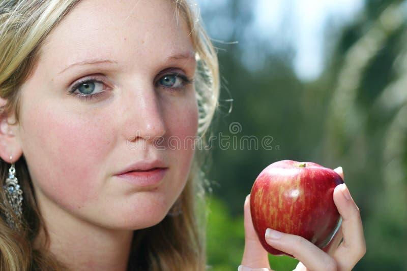 苹果妇女 免版税图库摄影
