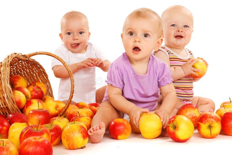 苹果婴孩吃 免版税图库摄影