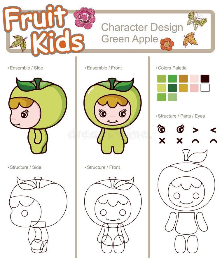 Download 苹果婴孩果子绿色蔬菜 向量例证. 插画 包括有 蔬菜, 孤立, 子项, 图象, 逗人喜爱, 花卉, 微笑 - 15682573