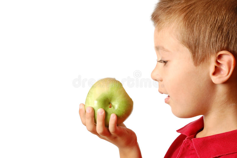 苹果子项吃 图库摄影