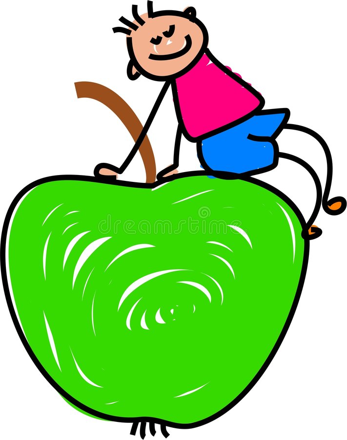 苹果孩子 皇族释放例证