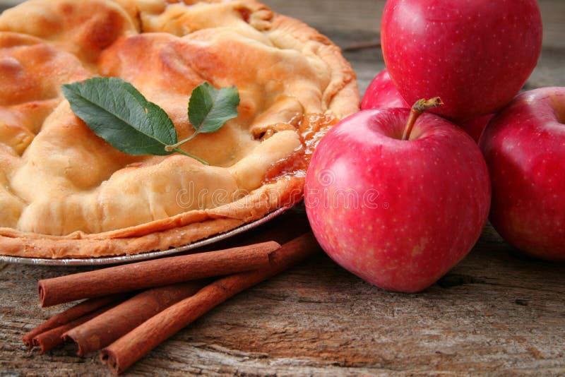 苹果家做饼 库存照片