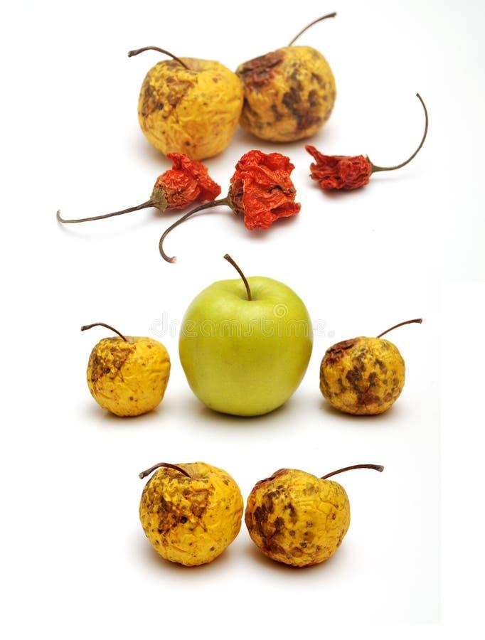 苹果干新鲜的胡椒 免版税库存图片