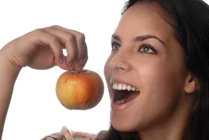 苹果微笑 库存图片
