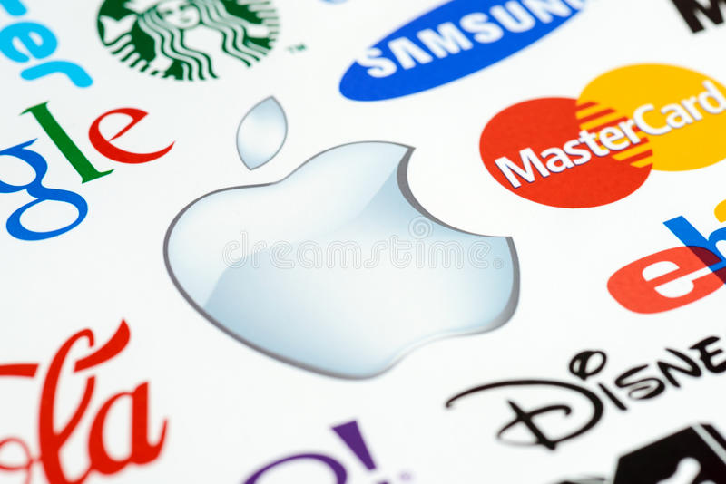 苹果徽标Macintosh 库存照片