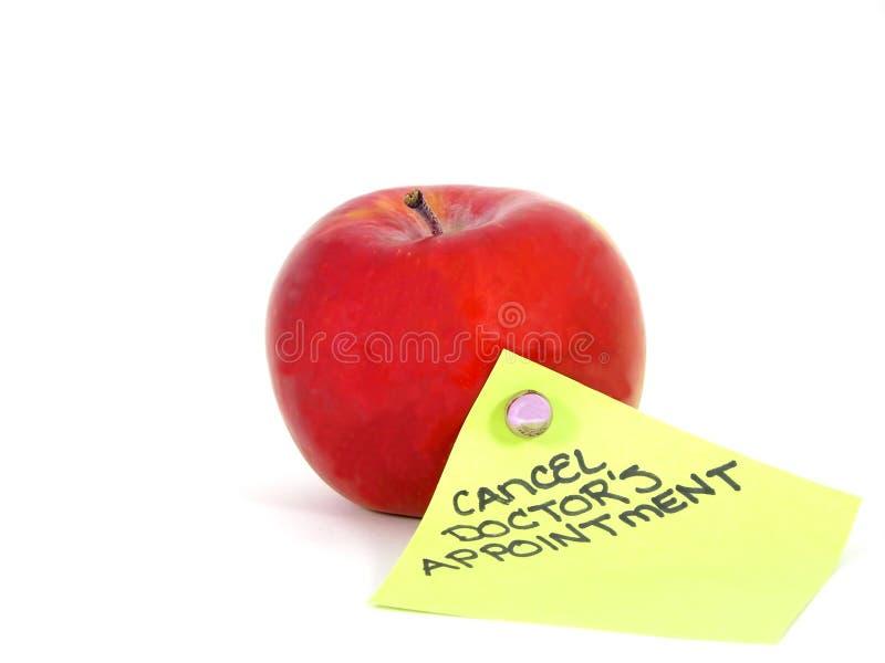 苹果提示 免版税库存照片
