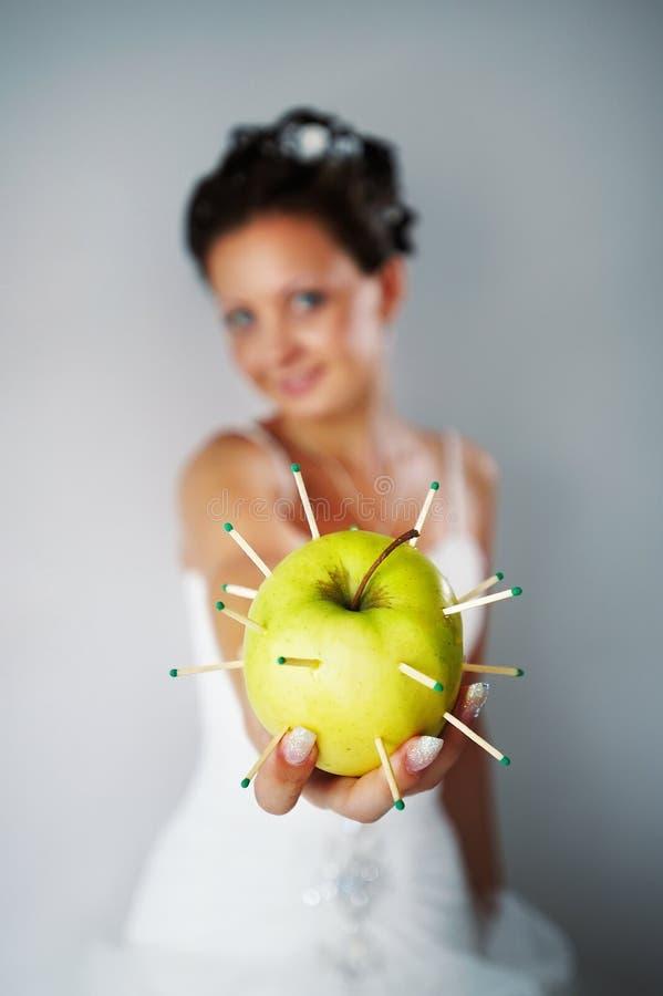 苹果新娘 库存图片