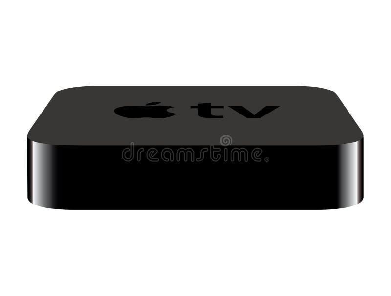 苹果新的电视 库存例证