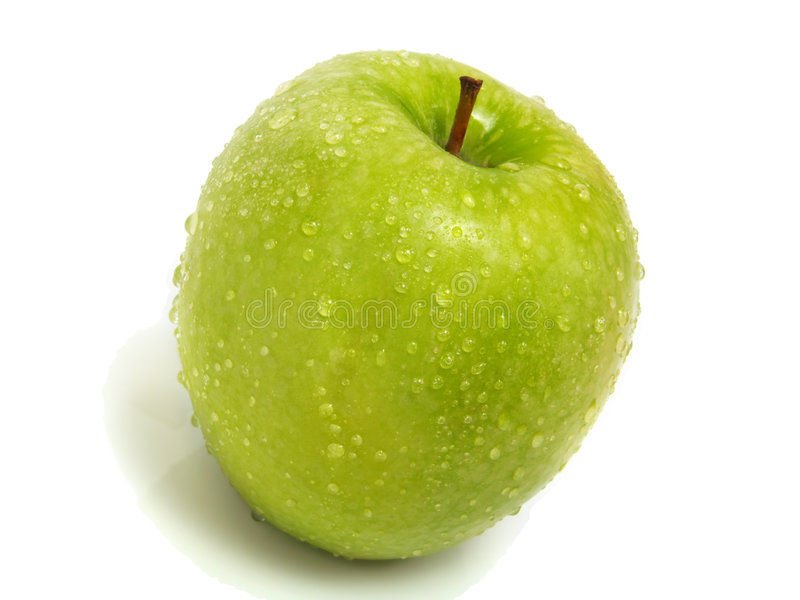 苹果新绿色查出的唯一 库存图片