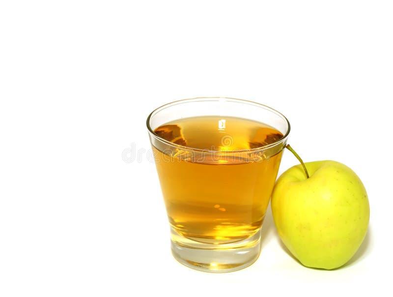 苹果新鲜的玻璃查出的汁 免版税库存照片
